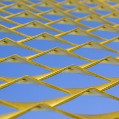 (morbs06) Tags: dortmund abstract architecture blue colour facade geometry gold graphic grid light lines mesh metal pattern reflections shadow square stripes sky waves minimal