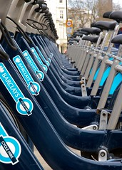 Boris Bikes (paulgmccabe) Tags: city london public bicycle healthy capital bikes cycle rent hire borisbikes