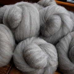 farm wool batts (folktalefibers) Tags: wool sheep natural farm gray harlequin fibers folktale batts