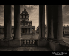Old Royal Naval College (esslingerphoto.com) Tags: door camera uk greatbritain light england tower art college church architecture clouds canon photography eos design europa europe exposure shot capital greenwich great christopher angles eu chapel icon best architectural chruch explore architect single dome 5d british christopherwren archetecture domes cityoflondon mkii chrisopher esslinger esslingerphotocom esslingerphoto