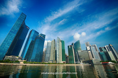 Singapore City Skyline 03(HDR) (yewkwangphoto) Tags: sea cloud seascape tourism water horizontal architecture landscape singapore asia cityscape bluesky tourist hotels hdr banks skyscaper famouslandmark commercialbuilding placeofinterest modernbuildings modernstructure buildingstructure singaporecityskyline photocategory yewkwang photographybyyewkwang