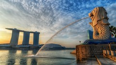 Merlion (scatrd) Tags: fountain travels singapore hdr merlion hdri 2013 hdrphotography marinabaysands