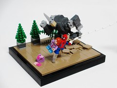 Spider-Man vs. Rhino (Julius No) Tags: lego spiderman rhino marvel