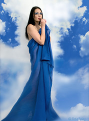 Another Georgette (Pete Foley - Migrated To Ipernity) Tags: blue beauty clouds model bravo surreal ema cliche beuty littlestories surrealbeauty overtheexcellence picswithsoul surrealistcliche