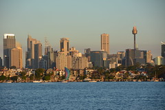 Sydney skyline (PJR74) Tags: city sunset water yacht sydney australia sydneyharbour sydneyskyline