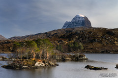 Suiliven - Loch Druim Suardalain (Michael~Ashley) Tags: mountain west pine photography coast scotland highlands nikon scottish pines loch scots lochinver munro assynt druim suiliven d3100 suardalain