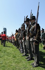 Battle Of York .... Glengarry Light Infantry Fencibles In Historical Uniforms (Greg's Southern Ontario (catching Up Slowly)) Tags: toronto canada history soldier nikon soldiers warof1812 fortyork historicreenactment canadianhistory battleofyork glengarrylightinfantryfencibles