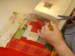 Easy Patchwork workshop at Ruth Singer Studio (ruthsinger) Tags: patchwork logcabin improvised freestyle