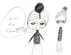drawing girls 19. (pretty little thieves) Tags: art illustration drawing kidsart drawinggirls