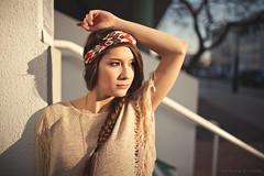 Alicia (Andrew Saxum) Tags: california portrait girl outside bokeh santamonica naturallight braid wideopen 3514 35l wideangleportrait canon35mmf14l canon35l minneapolisphotographer canon5dmarkii nattylightportrait