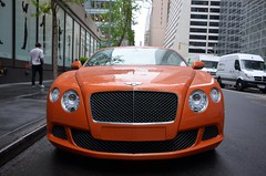 Eyes forward, shoulders back (underwhelmer) Tags: grille bentley scr w12 orangeflame 2013 continentalgtspeed