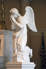 Right Angel on Altar (Jim, the Photographer) Tags: catholic cathedral roman basilica baltimore assumption bvm