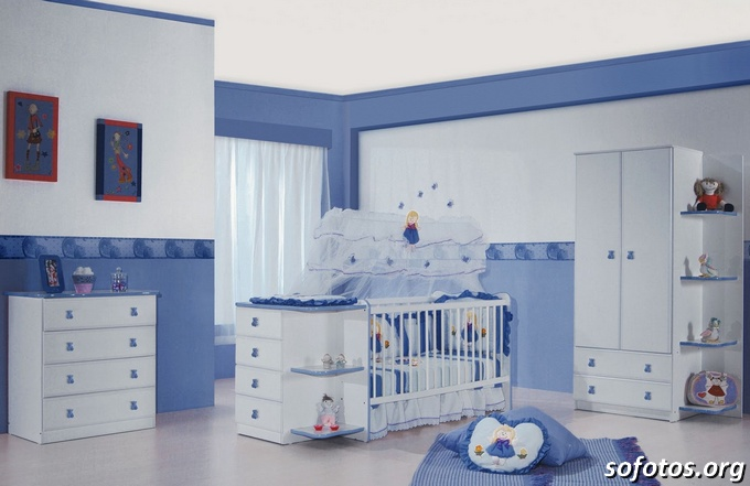 Quarto de bebe azul masculino