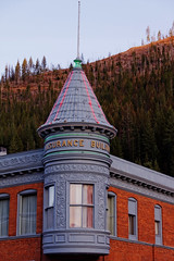 Turret with Neon, Wallace, ID (CT Young) Tags: idaho wallace smalltown silvervalley centeroftheuniverse idahopanhandle ruralwest wallaceid shoshonecounty miningcity canonefs18135mmf3556is