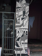 not mc escher (Joelk75) Tags: art graffiti alley tn knoxville tennessee marketsquare unionavenue wallavenue
