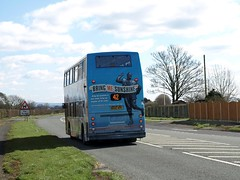 Stagecoach North West Dennis Trident Alexander ALX400 18362 MX55 KPP 'Morecambe & Wise' on the A586 heading for Lancaster on a 42 (nsf323) Tags: morecambewise dennistrident poultonlefylde route42 18362 alx400 stagecoachnorthwest mx55kpp greatecclestone