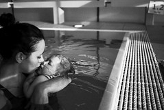 girls in pool (gorbot.) Tags: portrait bw white monochrome chas hydrotherapy f19 leicam8 robinhouse voigtlander28mmultronf19 childrenshospiceassociationscotland mmountrangefindersilverefexswimming poolmiarobertablack
