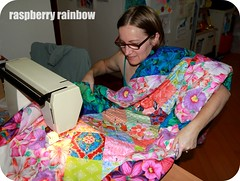 Quilting! (The Land of the Raspberry Rainbow) Tags: family grandma hk flower colour love floral march blog quilt handmade fabric april imadethis petunia granny petunias madewithlove 2013 raspberryrainbow wwwraspberryrainbowcom