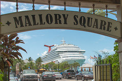 Carnival Freedom at Mallory Square (traveling around) Tags: cruise ship unitedstates florida keywest mallorysquare carnivalfreedom