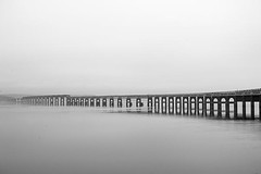 Simple Gothic View - Tay Rail Bridge - Dundee Scotland (Magdalen Green Photography) Tags: blackandwhite bw scotland cool riverside dundee scottish tayside tayrailbridge 1256 iaingordon dundeewestend magdalengreenphotography simplegothicview