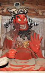 Lord Enma / () (TANAKA Juuyoh ()) Tags: panorama temple high stitch pano lord hires resolution 5d photomerge hi res tochigi yama markii    saimyouji enma  dharmapala       mashikomachi   hagagun