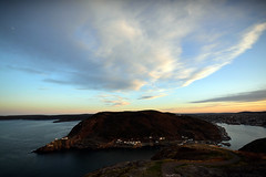 St. John's, Signal Hill. Cape Spear (SvenBergstrm) Tags: sunset canada clouds newfoundland sunsets stjohns signalhill cannons