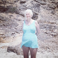 upload (Nicole Arcuschin) Tags: summer portrait beach square squareformat oldwoman stbarth iphoneography instagramapp uploaded:by=instagram