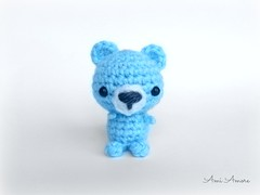 Sky Blue Bear (denae.amiamore) Tags: cute animals stuffed handmade crochet adorable plush yarn plushies kawaii amigurumi