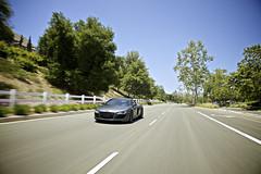 R8 (heyitsjohnny_) Tags: road blue sky tree green car canon driving gray audi matte r8 5dmarkii jmphotomedia