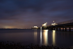 Woody Point Pier 2 (How-art) Tags: longexposure night redcliffe