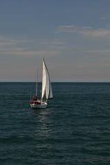 Sail Boat (Brieuc.Baillot) Tags: blue sea sky blackandwhite bw cloud sun boat nikon october sydney sigma wave australia nsw sail f28 2014 d600 2470 sigma2470
