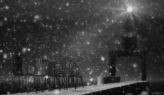 Furillen summer snow ... (Iris Okiddo) Tags: iris lighthouse snow cold ice pier chairs lonely desolate furillen okiddo