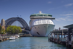 Voyager of the Seas docked at Sydney Harbour (AndrewL AU) Tags: cruiseships royalcaribbean voyageroftheseas cruise dock port therocks newsouthwales australia