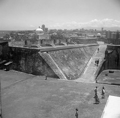 San Juan Fortifications (Meleager) Tags: zeiss ikonta 6x6 16521 vintage medium format black white bw film ilford delta 400 puerto rico san juan