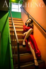 Adi_0044 (Adi Chng) Tags: adichng girl      redgreen