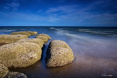 Illuminated (Ali Ly) Tags: longexposure sea sky art beach water clouds nikon rocks day outdoor hunstanton d810 sigma24mm leebigstopper