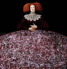 burgundy girl (Chris' Wings) Tags: fashion burgundy digitalart elizabethan