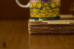 Moments with a book (Rzvan Oprea-Balai) Tags: book old relax cup coffee tea break vintage desk design bokeh