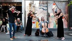 In Concert (Burnett NL) Tags: maastricht candid street photography fujifilm x70 music violin viool violine musicians classic chrome bijenkorf
