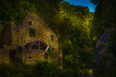 The Old Mill At Jesmond Dene Newcastle UK (Allan A Albery) Tags: blue newcastle jemonddene theoldmill sonya7ii sonyzeiss2470mmfe lightroom landscape water river mill contrast shadows moody atmospheric greatphotographers hdr sunlight tranquil uk abandoned waterwheel
