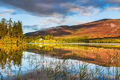 Reflecting on Alvie (Stoates-Findhorn) Tags: 2016 alvie aviemore church clouds loch scotland sunlight highland reflections unitedkingdom