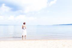 My Beautiful Wife (gary syrba) Tags: puremichigan highkey alaine beach shoreline clouds water lake bay