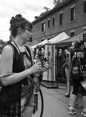 D7K_4511_ep_gs (Eric.Parker) Tags: pride parade toronto tattoo gender sexualorientation piercing bra brassiere tshirt tanktop belly crossdress transgender gay homosexual dyke lesbian breast costume bikini queer lgbt topless naked nude publicnudity exhibitionism 2016 motorcycle dykesonbikes dykemarch bicycle bike pierced tattooed bw