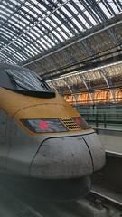 A Eurostar train in St Pancras station London [shared] (Simon Bolton UK) Tags: london train eurostar stpancras station railway s5