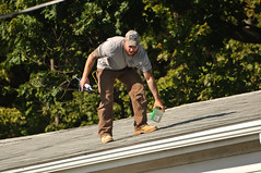 12 BEAR on the ROOF! (Violentz) Tags: male guy man roofer roof bear bearded hairy tattooed house home patricklentzphotography