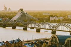 Bridge | Riga, Latvia | Summer 2016 (A. Aleksandraviius) Tags: riga latvia travel europe baltic river daugava national library modern bridge