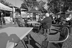 Speers Point markets (Tim J Keegan) Tags: australia nsw huntervalley lakemacquarie speerspoint speerspointpark park lake speerspointmarkets cocklebay bw