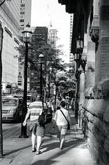 Late Afternoon Walk on Wellington St._ (Bill Smith1) Tags: asahipentaxmx believeinfilm billsmithsphotography hc110b heyfsc ilfordhp5400 smcpentaxm50f2lens september2016 toronto filmshooterscollective