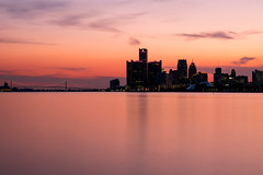 _8293719 (elsuperbob) Tags: detroit michigan detroitriver sunset river longexposure nd1000 skyline downtowndetroit belleisle ambassadorbridge