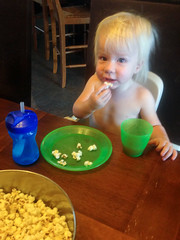 20151006_Shannon_phone_0034.jpg (Ryan and Shannon Gutenkunst) Tags: codygutenkunst applecider diningtable popcorn smile snack snacktime waterbottle tucson az usa